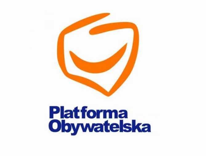 Ścianki reklamowe wyprodukowane dla klubu Platforma Obywatelska