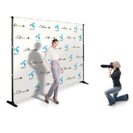 Ścianki reklamowe tekstylne