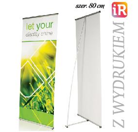 L banner STRONG 80 x 180 z wydrukiem