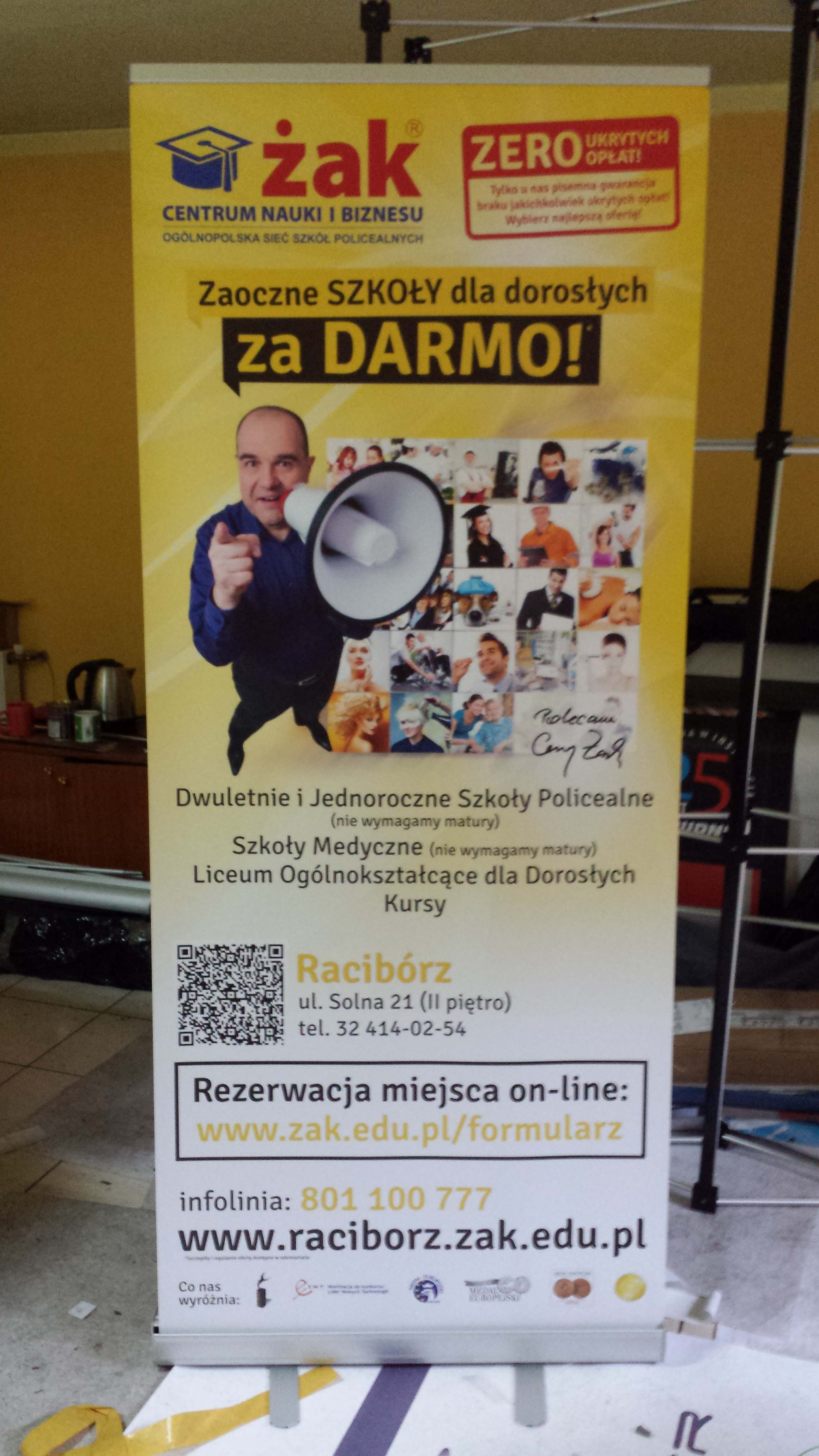 wykonane roll upy w Krakowie
