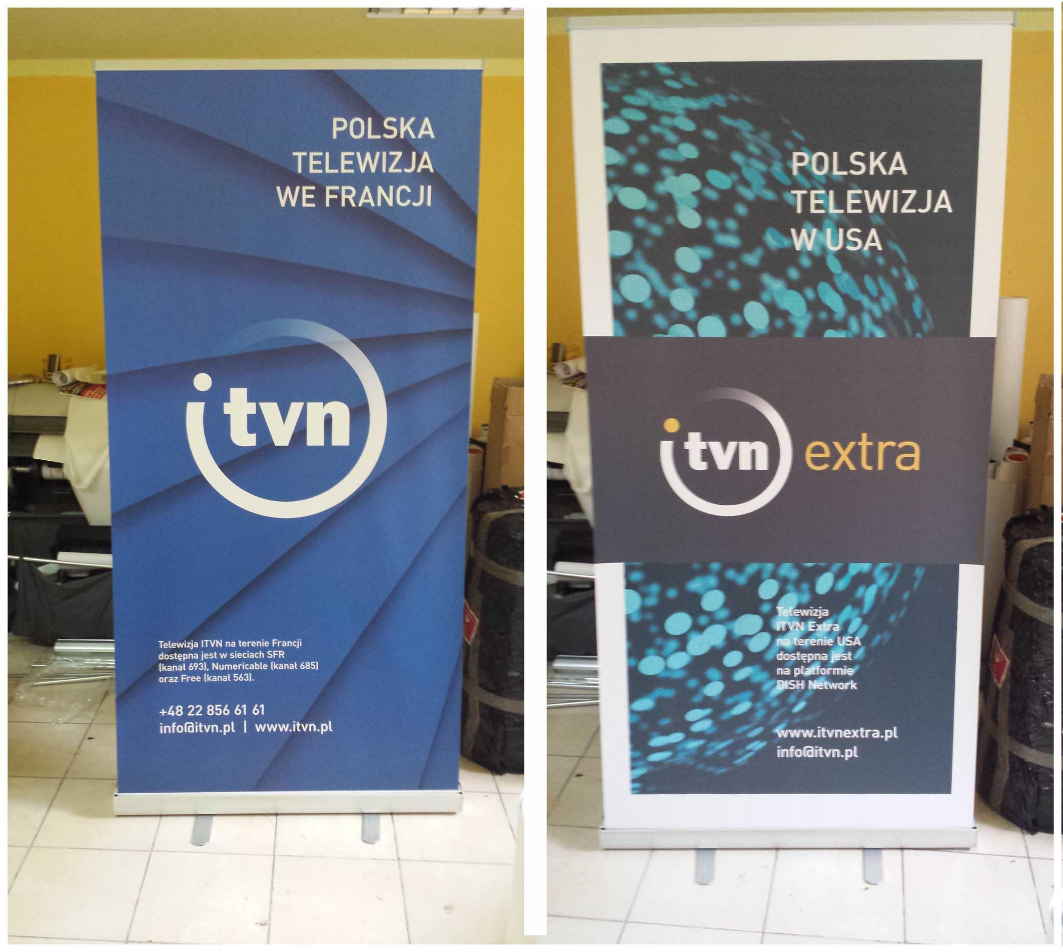 Ścianka reklamowa Warszawa realizacja dla stacji telewizyjnej TVN